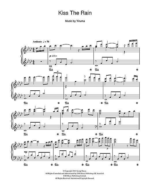 Kiss The Rain Sheet Music
