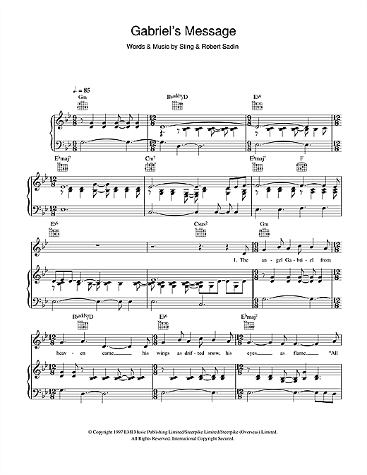 Gabriel's Message Sheet Music