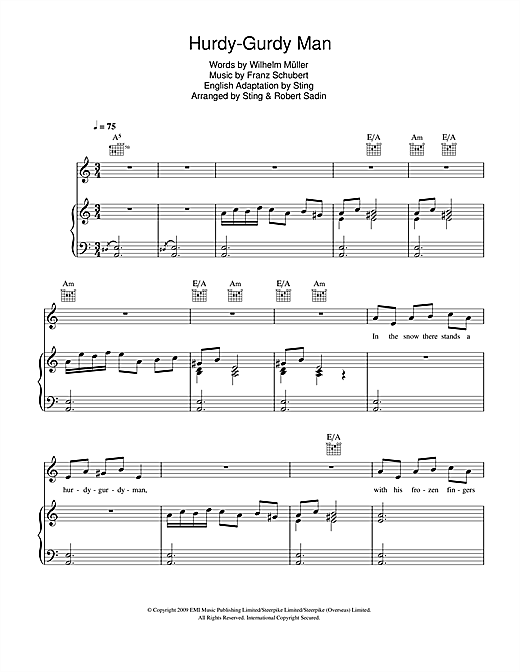 Hurdy-Gurdy Man Sheet Music