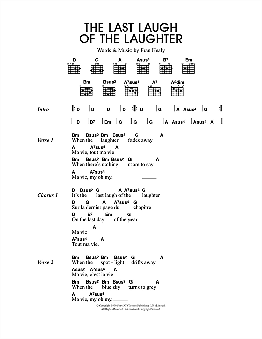 The Last Laugh Of The Laughter Sheet Music