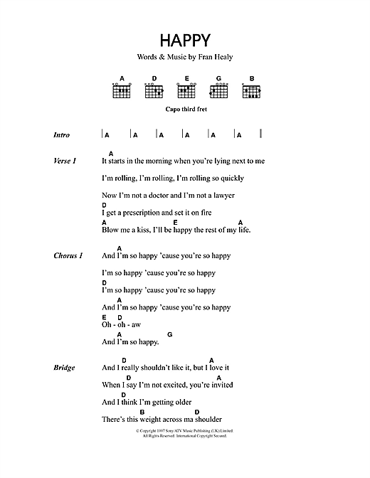 Happy Sheet Music