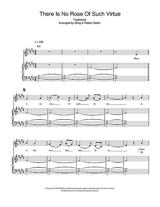 There Is No Rose Of Such Virtue Sheet Music