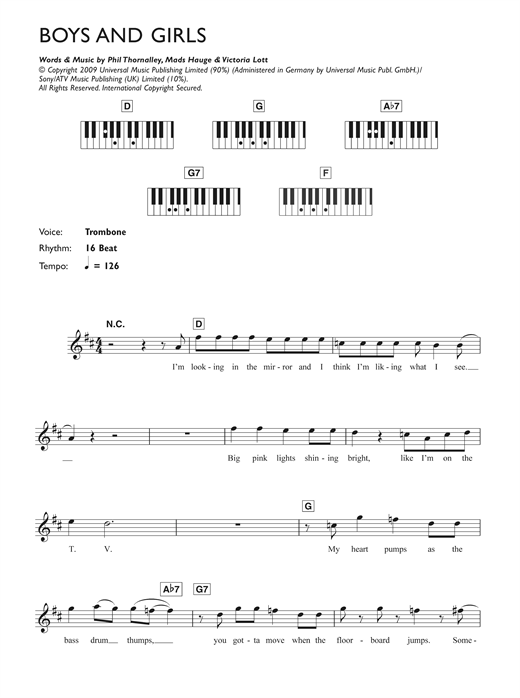 Boys And Girls Sheet Music