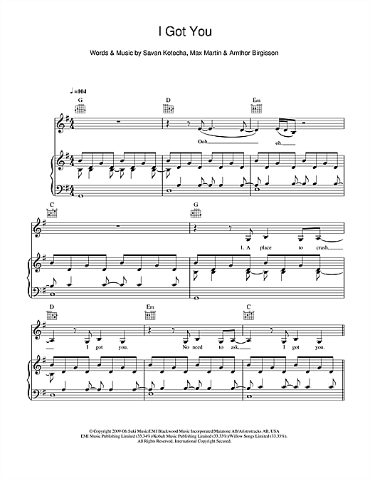 I Got You Sheet Music