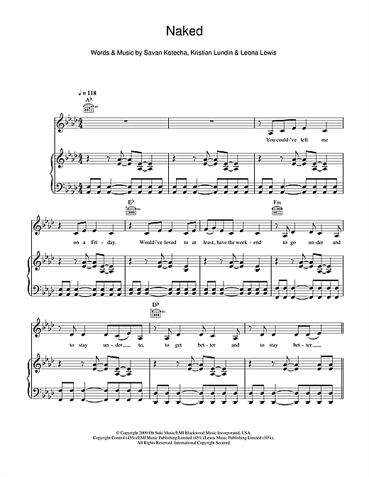 Naked Sheet Music