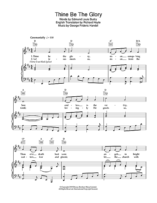 Thine Be The Glory Sheet Music