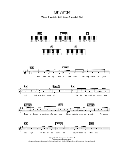 Mr. Writer Sheet Music