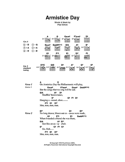 Armistice Day Sheet Music