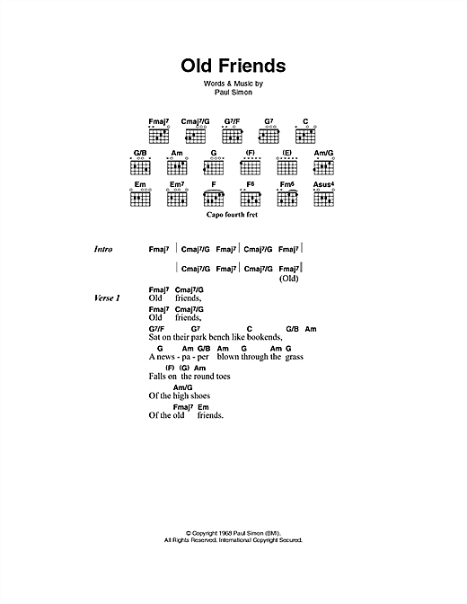 Old Friends Sheet Music
