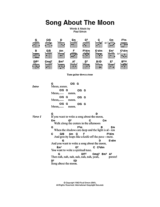 Song About The Moon Sheet Music