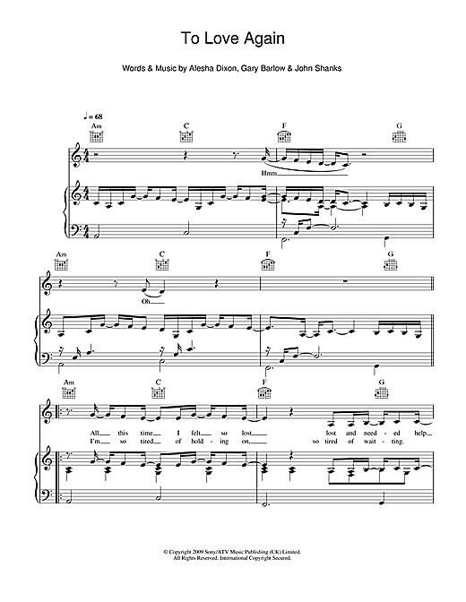 To Love Again Sheet Music