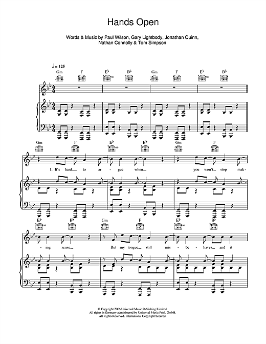 Hands Open Sheet Music