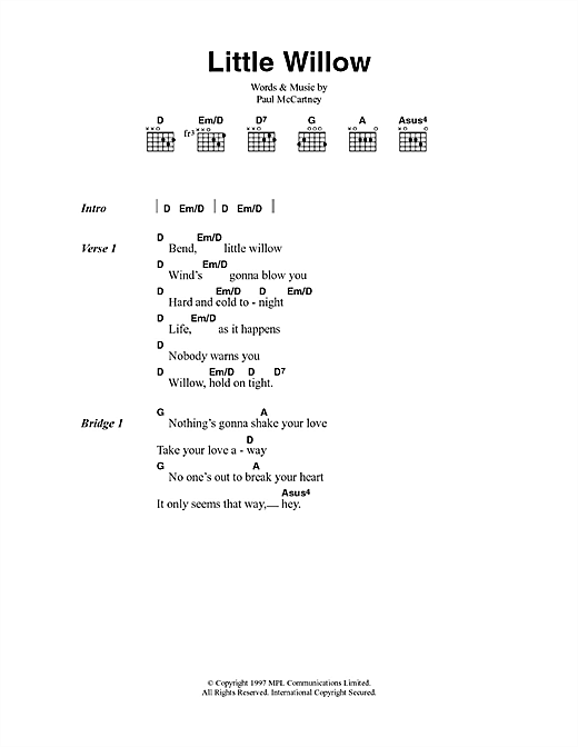 Little Willow Sheet Music