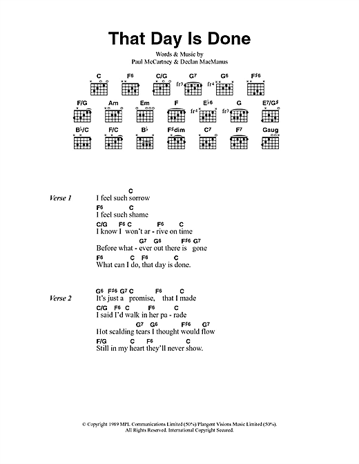 That Day Is Done (Guitar Chords/Lyrics)