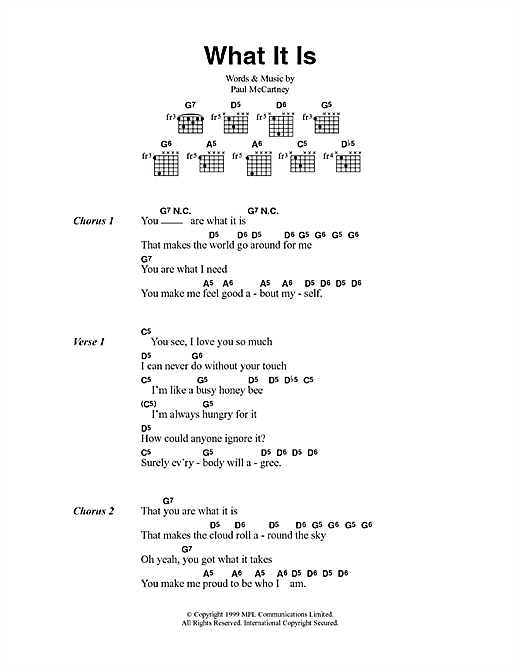 What It Is (Guitar Chords/Lyrics)