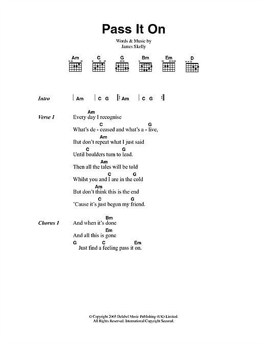 Pass It On (Guitar Chords/Lyrics)