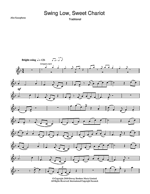 Swing Low, Sweet Chariot Sheet Music