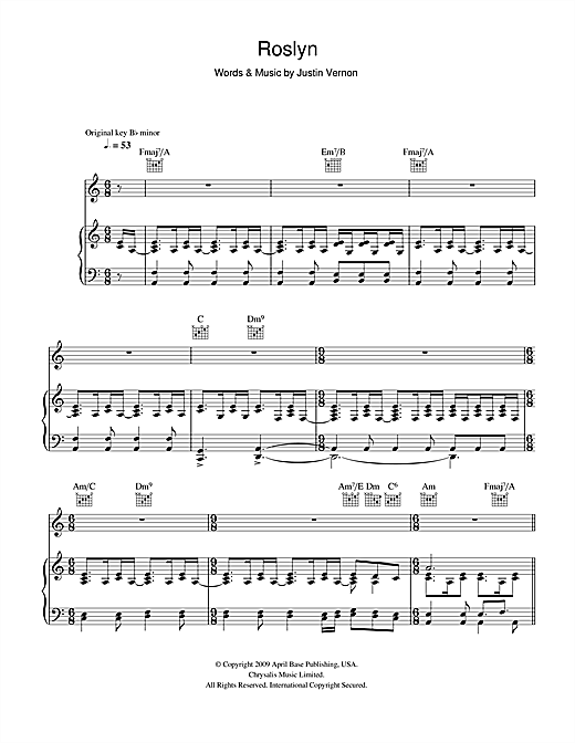 Roslyn Sheet Music