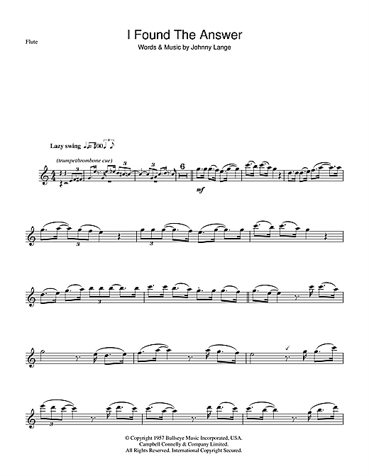 I Found The Answer Sheet Music