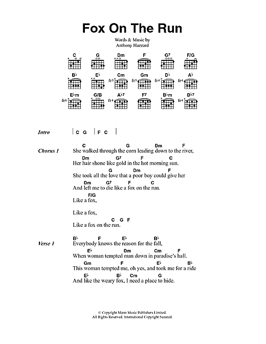 Fox On The Run Sheet Music