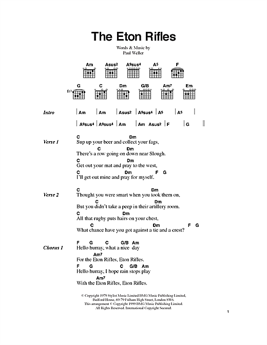 The Eton Rifles Sheet Music