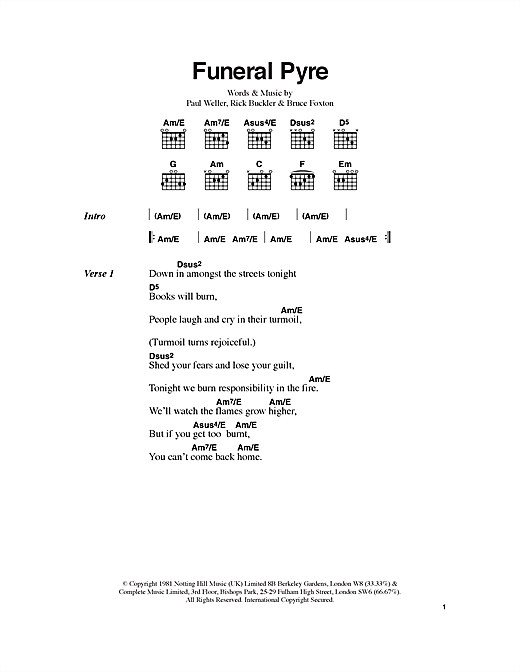 Funeral Pyre Sheet Music