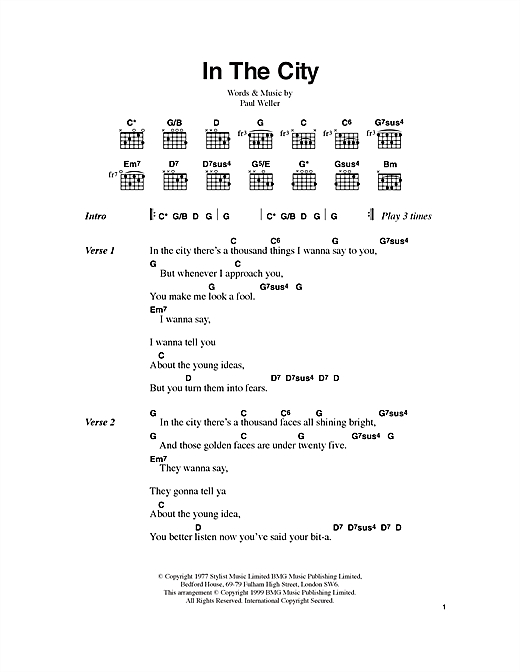 In The City Sheet Music