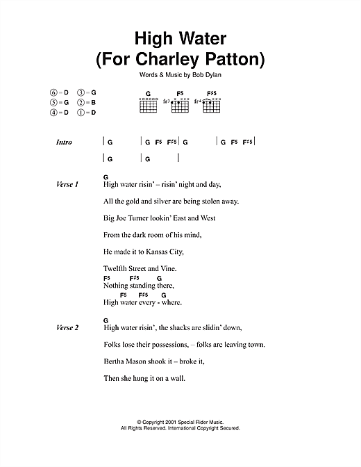 High Water (For Charley Patton) Sheet Music