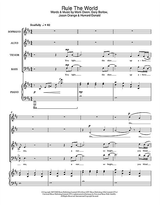 Rule The World (from Stardust) (SATB Choir)