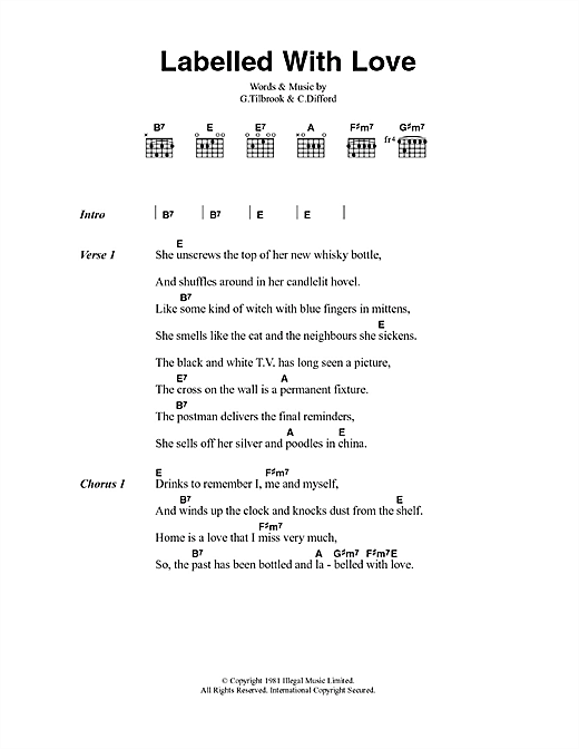 Labelled With Love (Guitar Chords/Lyrics)