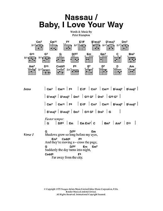 Baby, I Love Your Way Sheet Music