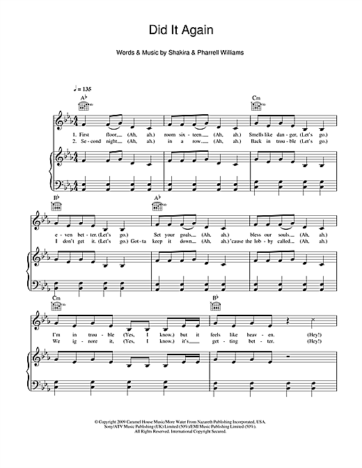 Did It Again Sheet Music