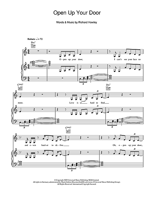 Open Up Your Door Sheet Music