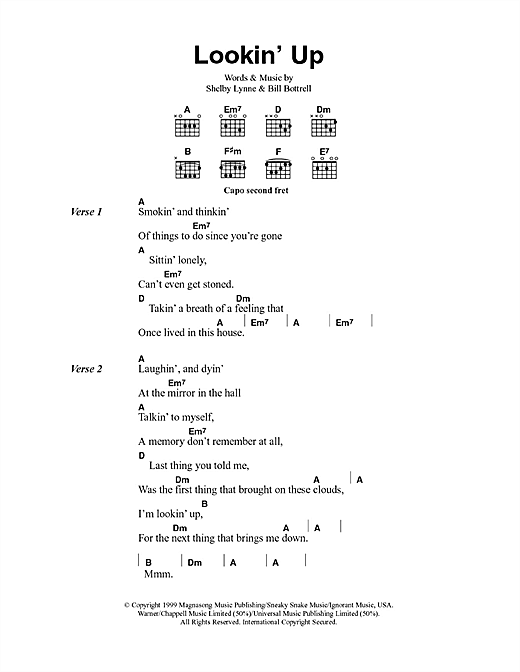 Lookin' Up (Guitar Chords/Lyrics)