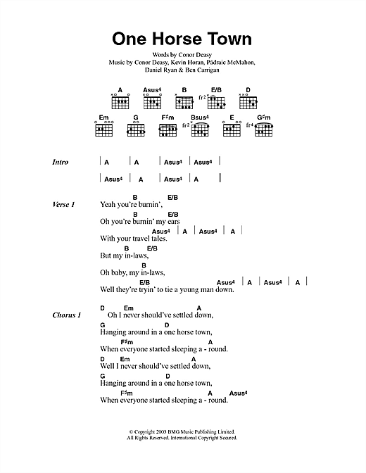 One Horse Town Sheet Music