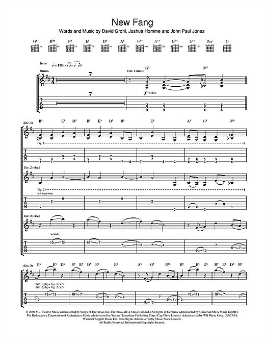 New Fang (Guitar Tab)