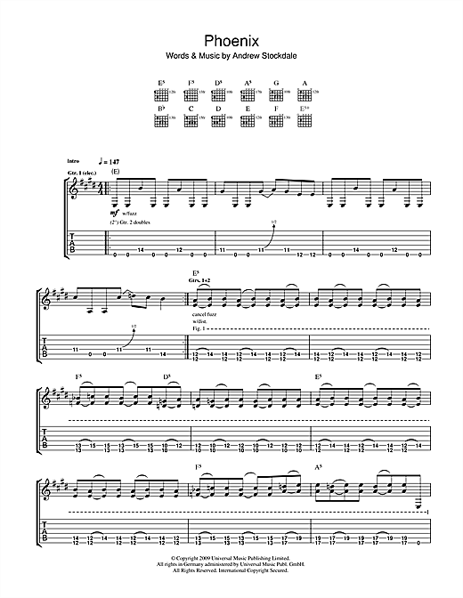 Tablature guitare Phoenix de Wolfmother - Tablature Guitare