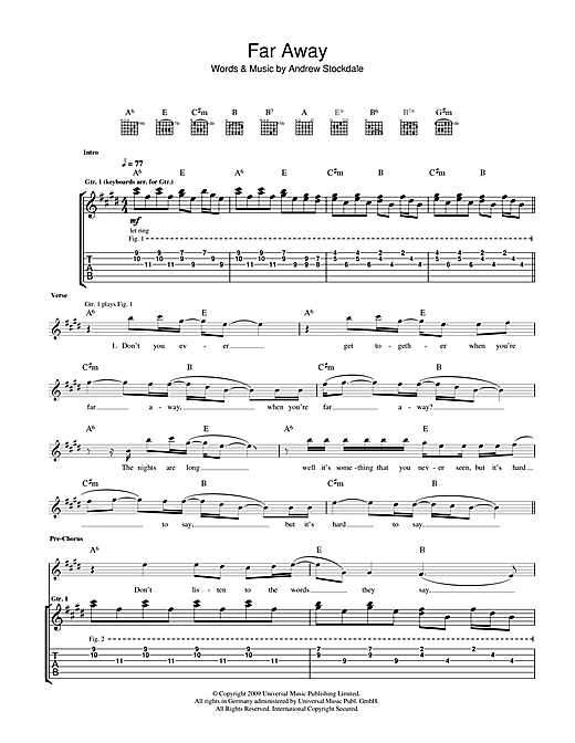 Far Away Sheet Music