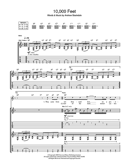 Tablature guitare 10,000 Feet de Wolfmother - Tablature Guitare