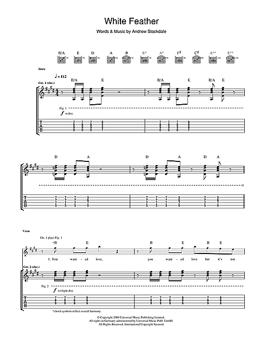White Feather (Guitar Tab)