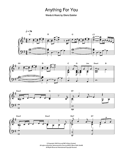 Anything For You Sheet Music