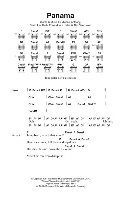 Panama Sheet Music