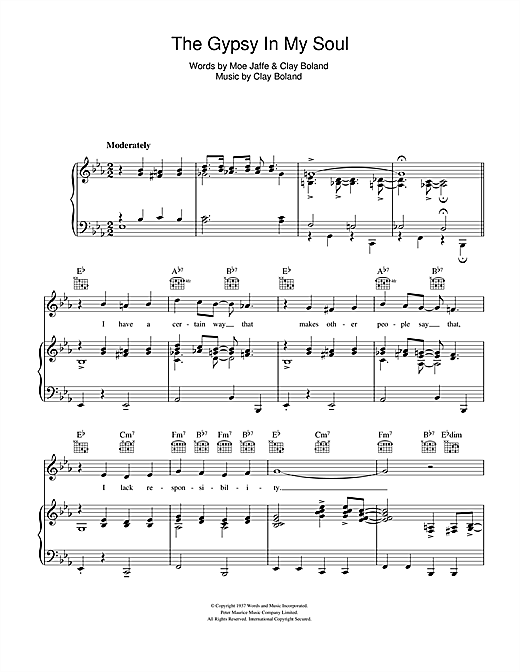 Gypsy In My Soul Sheet Music