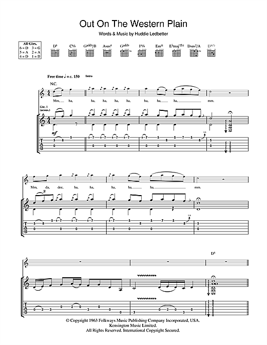 Tablature guitare Out On The Western Plains de Rory Gallagher - Tablature Guitare