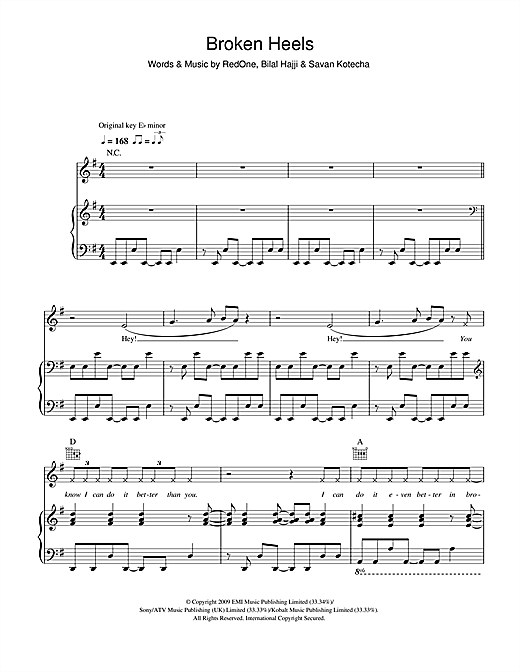 Broken Heels Sheet Music