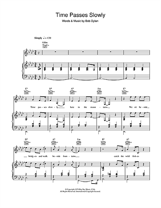 Time Passes Slowly Sheet Music