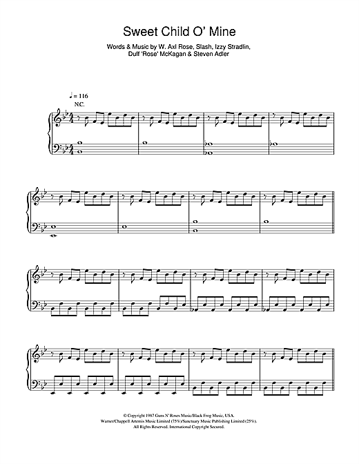 Sweet Child O' Mine Sheet Music
