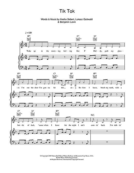 Tik Tok Sheet Music