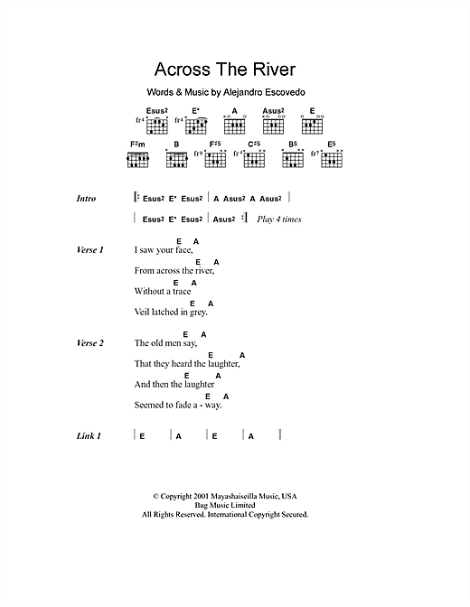 Across The River Sheet Music