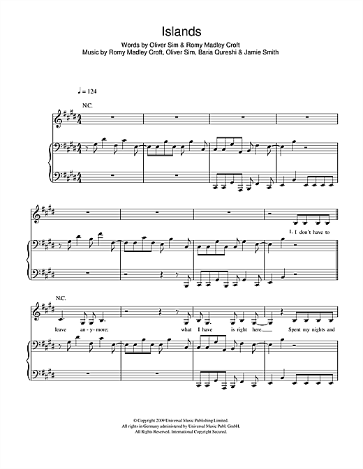 Islands Sheet Music